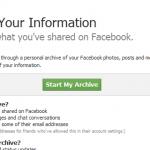 Last ned dine personlige data fra Facebook
