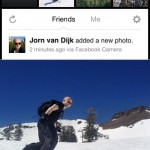 Facebook med fotoapplikasjon for iPhone