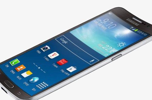 Slik ser Samsungs kurvede mobiltelefon ut.  Foto: Samsung