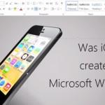Ble Microsoft Word brukt for å lage iOS 7?