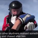 Her går det galt for fallskjermhopperen