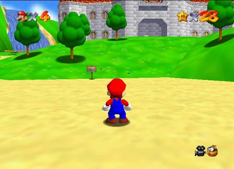 Foto: Super Mario 64 / Nintendo / Skjermdump
