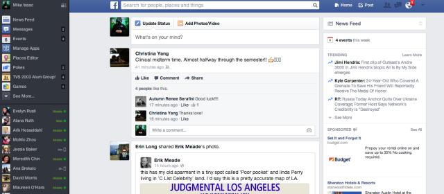 Slik var designet Facebook ønsket å lansere. Foto: Facebook