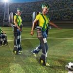 Lam person i robotdrakt skal sparke i gang fotball-VM