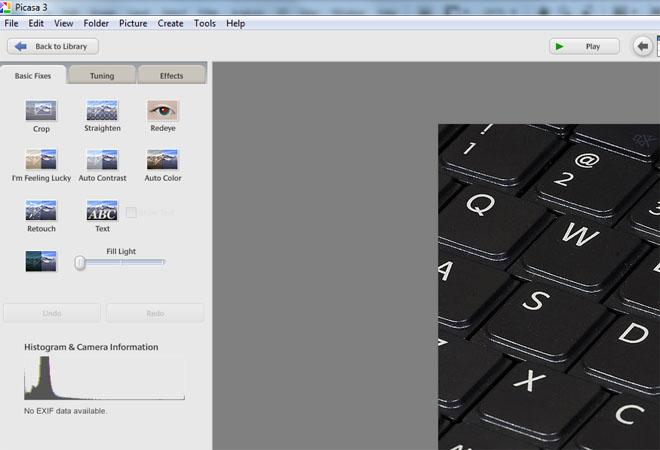 Picasa lar deg organisere og redigere bildene dine. (ill Bitnett Teknologia)